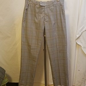 THEORY Glen Plaid Straight Leg Pants